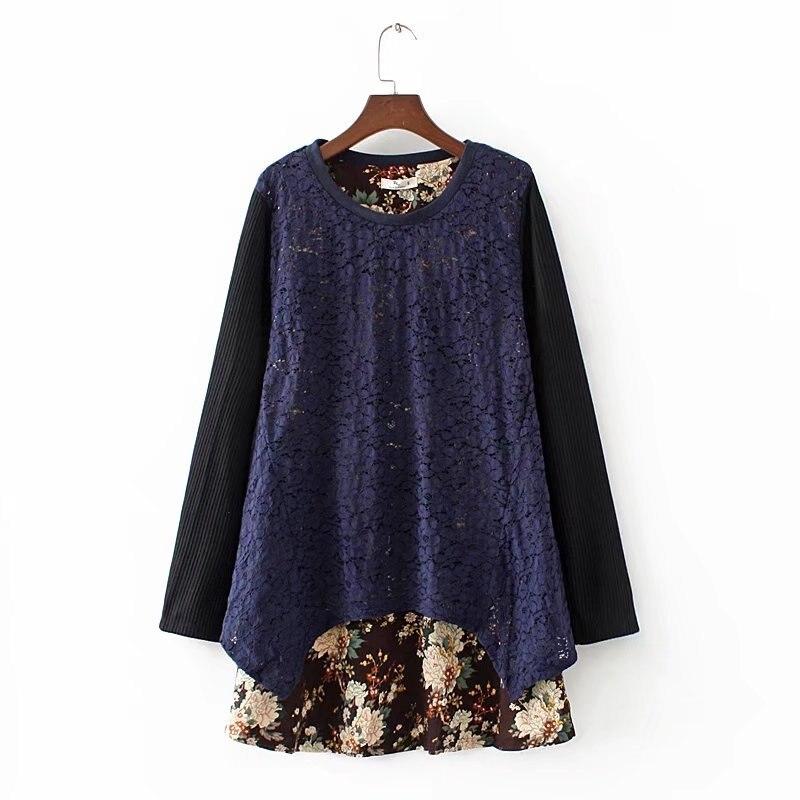 Большие размеры Для женщин лето-осень платье топы с цветочным принтом женские платье в этническом стиле Большие размеры свободные Винтаж П...