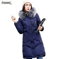 1PC Winter Jacket Women Fur Hooded Thickening Cotton Long Parka Winter Coat Women Jaqueta Feminina Inverno