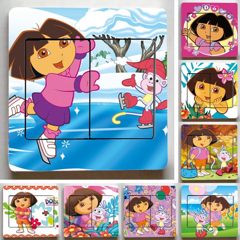 Free Shipping Dora The Explorer Switch Stickers,Cute Dora The Explorer Wall  Stickers,Children Part 41