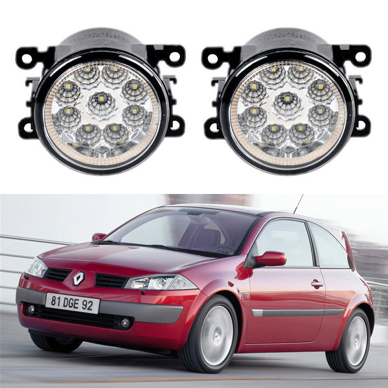 Car-Styling For Renault Megane 2 Sedan Estare Soloon 2002-2011 9-Pieces Led Fog Lights H11 H8 12V 55W Fog Head Lamp дюма а граф монте кристо том 1