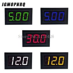 Mini Digital Voltmeter DC 4.5V to 30V Digital Voltmeter Voltage Panel Meter For 6V 12V 24V Electromobile Motorcycle Car 0.56 ''