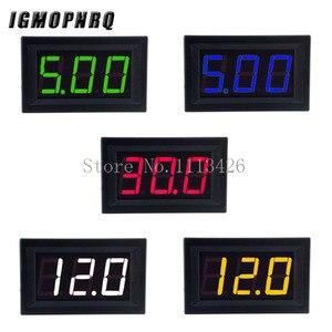 Mini Digital Voltmeter DC 4.5V to 30V Digital Voltmeter Voltage Panel Meter For 6V 12V 24V Electromobile Motorcycle Car 0.56 ''(China)
