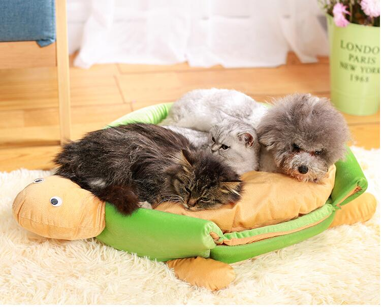 Creative Cartoon Dog Bed House Cat Kennel Turtle Bed for Small Medium Pet S M 3 Color