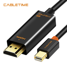 Cabletime Mini DP to HDMI Cable 4K DP to HDMI Adapter HDMI DisplayPort Cable for 2K*4K TV Lenovo Computer MacBook N043