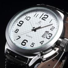 52 MM Grand Blanc Cadran ORKINA Hommes de Grand Auto Date En Cuir Quartz Montre-Bracelet Hommes Sport Montre Relogio Masculino Homme Heren Horloges