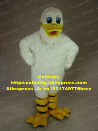 8fdd9c6081353 Piquant White Duck Duckling Platypus Duckbill Duckmole Mascot Costume With  Red Triangular Tongue Plush Long Fur Claws No.7496-in Mascot From Novelty .