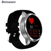 Betreasure X200 Smart Watch Android 5.1 MTK6580 1.3GHZ Weather Live Pedometer Heart Rate Monitor WiFi 3G GPS SmartWatch Phone