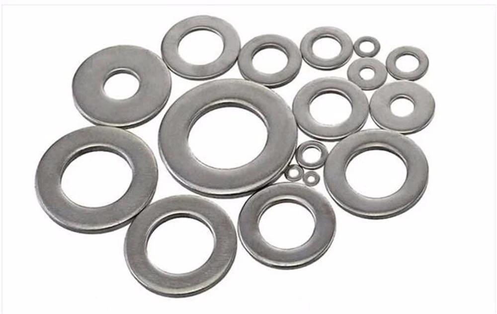 Zyj stores Flat Washers 5-100pcs Flat Washer M1.6 M2 M2.5 M3 M4 M5 M6 M8 M10 M12 M14 M16 M18 M20 Stainless Steel Washers Plain Washer Gasket Stainless Flat Washer Size : M5 100pcs