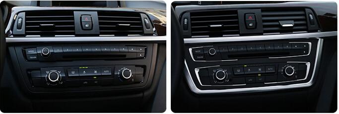 Middle Console buttons Cover Trim 5pcs For BMW 3 series F30 316i 320i 328i 2013 2014 2015 полуось на bmw 316i в беларуси