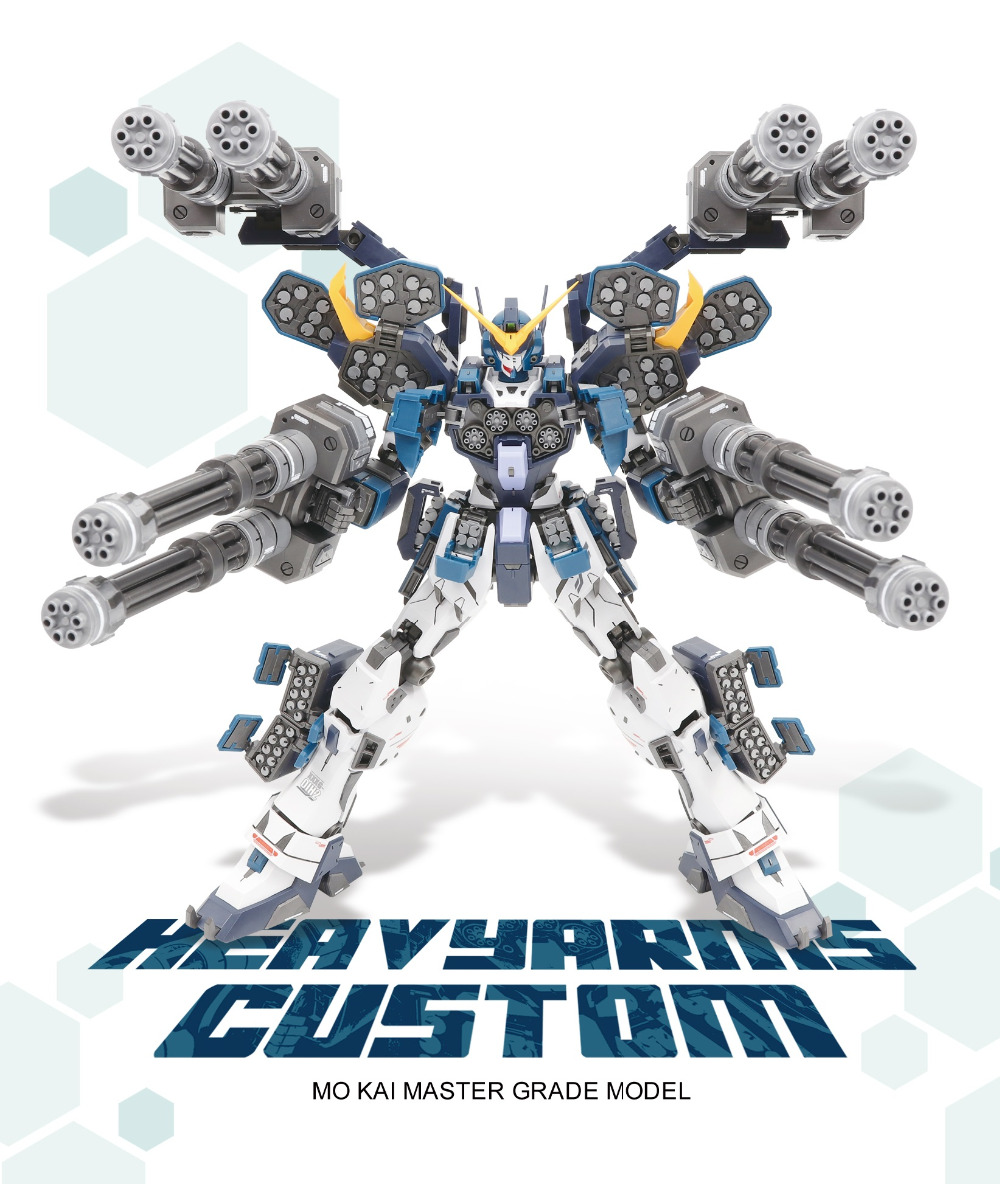 Super NOVA Gundam MG 1/100 Model GUNDAM HEAVY ARMS CUSTOM Freedom Unchained Mobile Suit Kids Toys With Holder
