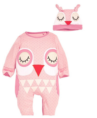 Newborn Baby Rompers Autumn Baby Girls Clothes Cute Cartoon Animal Newborn Jumpsuits Ropa Bebes Baby Boy Clothing Set Romper+Hat 2017 new fashion cute rompers toddlers unisex baby clothes newborn baby overalls ropa bebes pajamas kids toddler clothes sr133