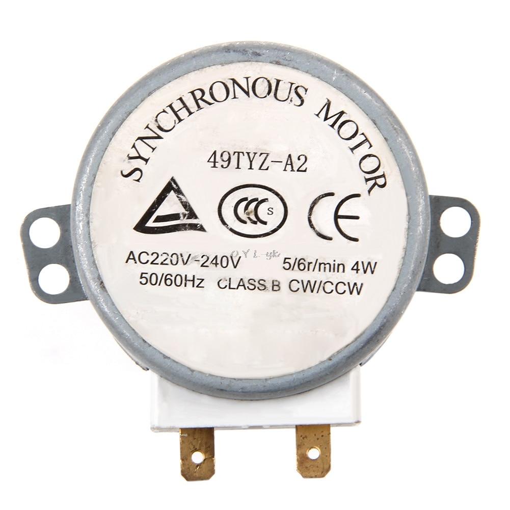 1Pc x Microwave Motor CW/CCW 4 W 5/6 RPM AC 220-240V Rotary Table Synchronous 49TYZ-A21Pc x Microwave Motor CW/CCW 4 W 5/6 RPM AC 220-240V Rotary Table Synchronous 49TYZ-A2