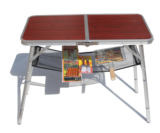 Outdoor Portable Camping Grill Tables Folding Table Leisure Picnic To Send The Bag