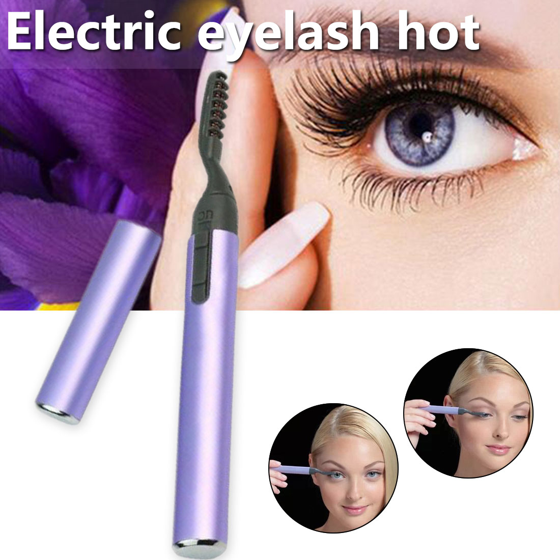 New Portable Pen Style Auto Electric Heating Eyelash Curler Curved Double Side Electrothermal Eyelash Clip Eye Lash Brush Color