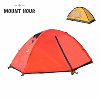 Mount Hour Single Hiking Tent 20D Silicone Fabric Light Backpacking Double Layers Aluminum Rod Camping Cycling Tent 4 Season