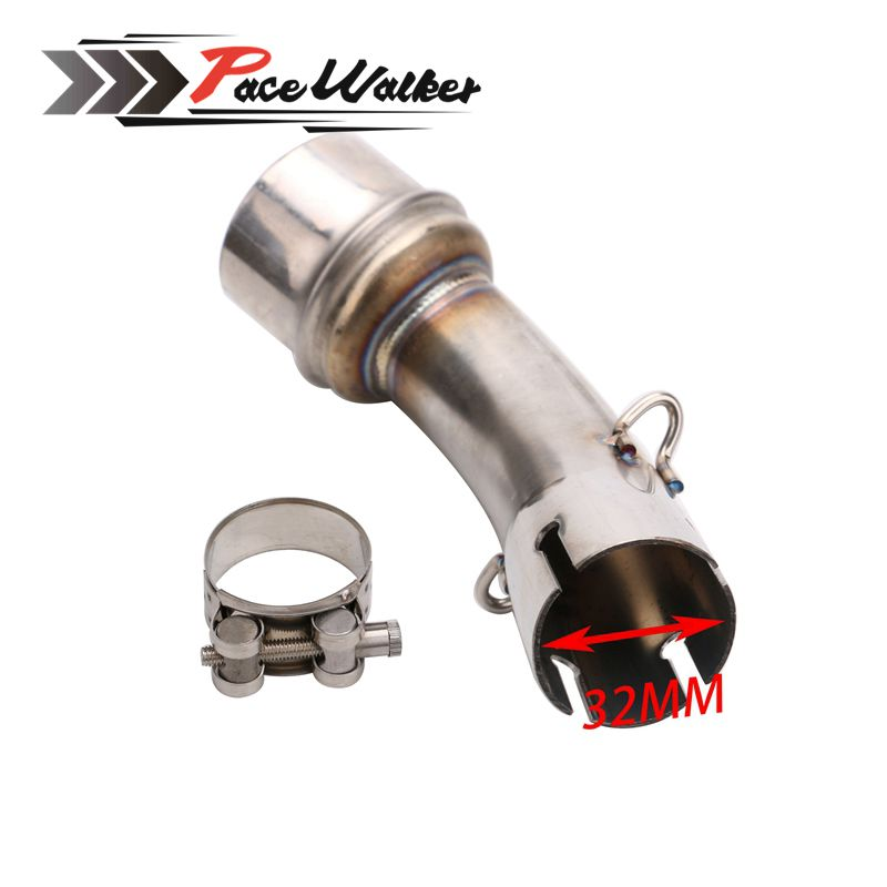 Motorcycle Exhaust middle pipe for YAMAHA R3 2015-2016 without exhaust