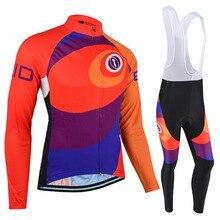 BXIO Зимняя Теплая Флисовая велосипедная одежда с длинным рукавом Pro Team велосипедная майка оранжевая одежда для горного велосипеда Ropa Ciclismo Hombre 026