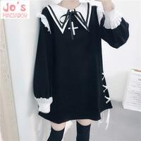 Women Sexy Gothic Lolita Dress Kawaii Halloween Party Christmas Uniform Dress Sweet Cute Night Wear Vestidos Black
