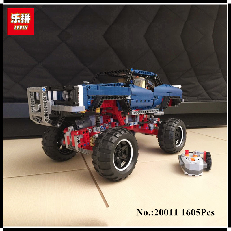 IN STOCK lepin 20011 1605pcs technic remote control electric off-road vehicles building block toys compatible with 41999 advanced intelligent vehicles control