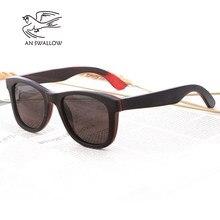 f0e23a214 Skate de Madeira óculos de Sol de luxo Do Vintage Preto Quadro Óculos De Sol  Das Mulheres dos homens Polarizados Óculos De Sol D..