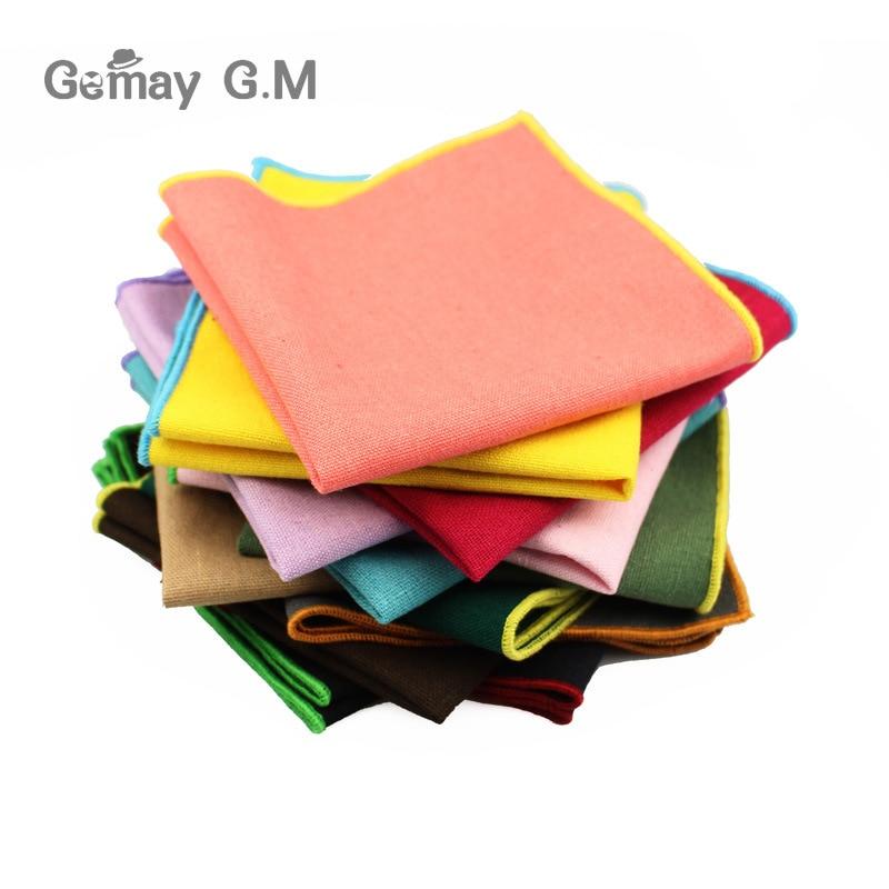 Men's Pocket Towel Cotton Towel Handkerchief Color Solid Candy Suit Wedding Banquet Exquisite Handkerchief As Spot