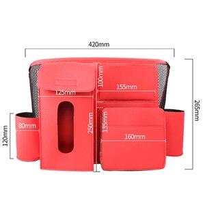 Image 3 - Sac de rangement universel pour siège de voiture, 1x sac de rangement pour siège de voiture, boîte de rangement multifonctionnelle en cuir PU