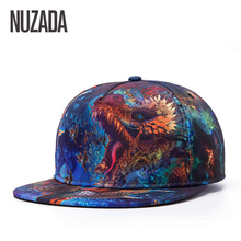 Unisex čepice s rovným kšiltem a barevným potiskem