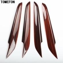 TOMEFON для Mazda 6 Atenza до ABS углеродное волокно деревянная краска внутренняя Внутренняя дверь боковая отделка панели Стайлинг отделка