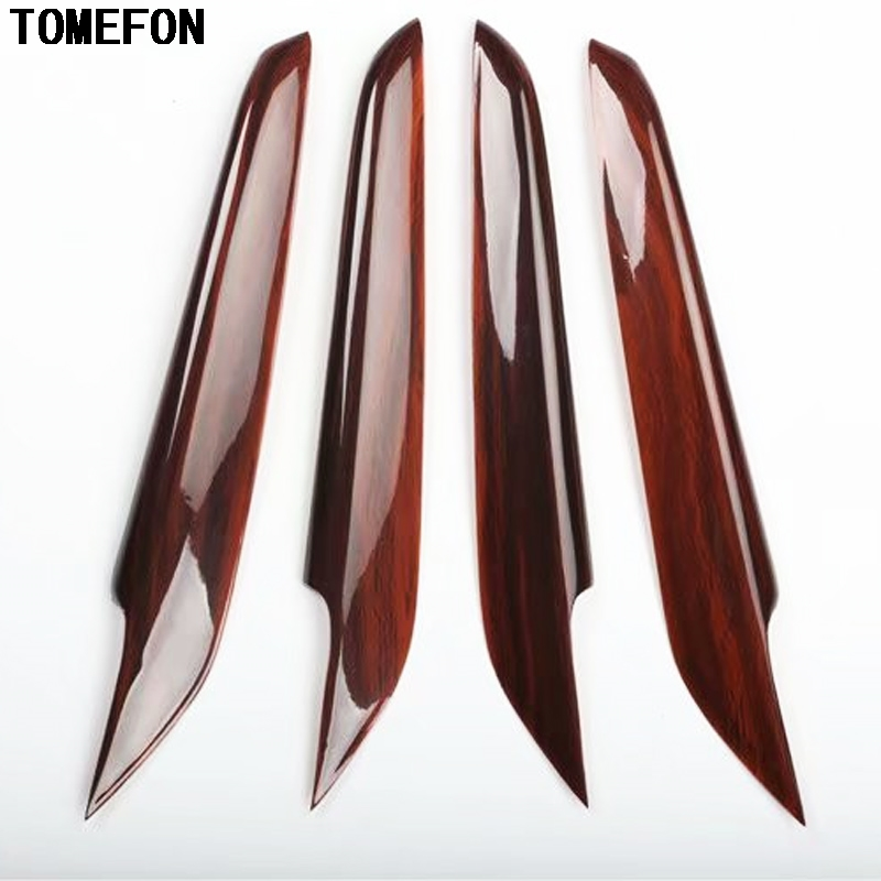 TOMEFON For Mazda 6 Atenza 2014 to 2017 ABS Carbon Fiber Wood Paint Interior Inner Door Side Trim Panel Styling Trim 4 pcs carbon fiber exterior door handles doorknob decoration decorative accessories 3d stickers for mazda 6 atenza
