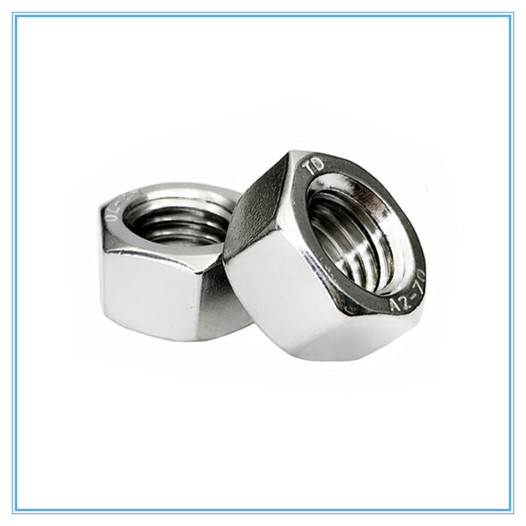 10Pcs Fasteners Accessories M2 M2.5 M3 M4 M5 M6 M8 304 Stainless Steel Metric Thread Hex Nut Hexagon Nuts