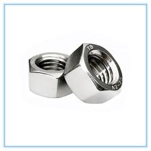 Acessórios para fixadores m2 m2.5 m3 m4 m5 m6 m8 304, rosca métrica de aço inoxidável, porcas hexagonais, 10 peças