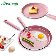 10 /8 inch Breakfast cake pot pizza plate fried egg non-stick Baking pot Omelet Pans frying pan Japanese Style Pink Cookware Pan japanese 18cm aluminum alloy nonstick pan wok non stick cookware frying pan saucepan small fried eggs pot frying pan wok pans