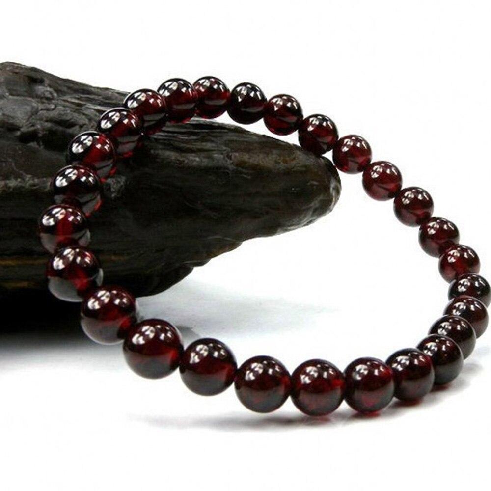 Bracelet Grenat Rouge Homme