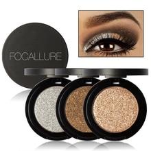 2017 Makeup Professional kits Glitter Eye Shadow Gold Metallic Glitter Eyes Eyeshadow Powder Palette Focallure Brand