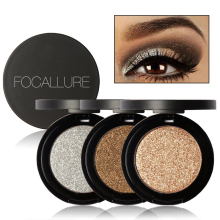 2017 Makeup Professional kits Glitter Eye Shadow Gold Metallic Glitter Eyes Eyeshadow Powder Palette Focallure Brand Makeup