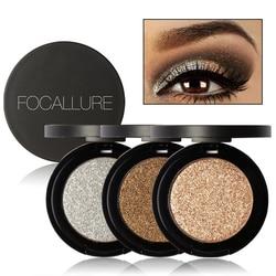 Korean Makeup Professional kits Glitter Eye Shadow Gold Metallic Glitter Eyes Eyeshadow Powder Palette Focallure Brand Makeup