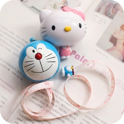 CarCartoon Automatic Shrinkage Measurement Tape  Cute Kawaii  Cat Doraemon Doll Soft Tape Ruler/ Cloth Dieting Tailor.