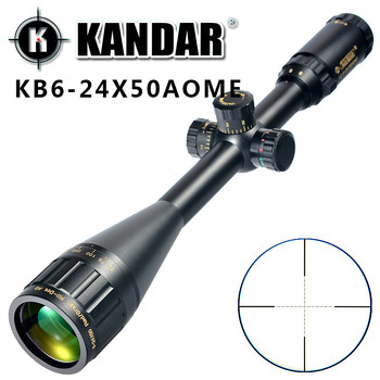 Adjustable Riflescope 6-24x50 Rifle Scope Outdoor Reticle Sight Optics Optical Sight Scope for Target Rifle Hunting+Rail MOUNTS
