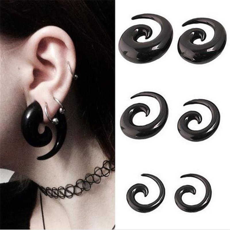 DoreenBeads Acrylic Spiral Taper Tunnel Ear Stretcher Plugs Expanders Body Jewelry Drop Ship tragus ear plugs, 1 Piece body jewelry