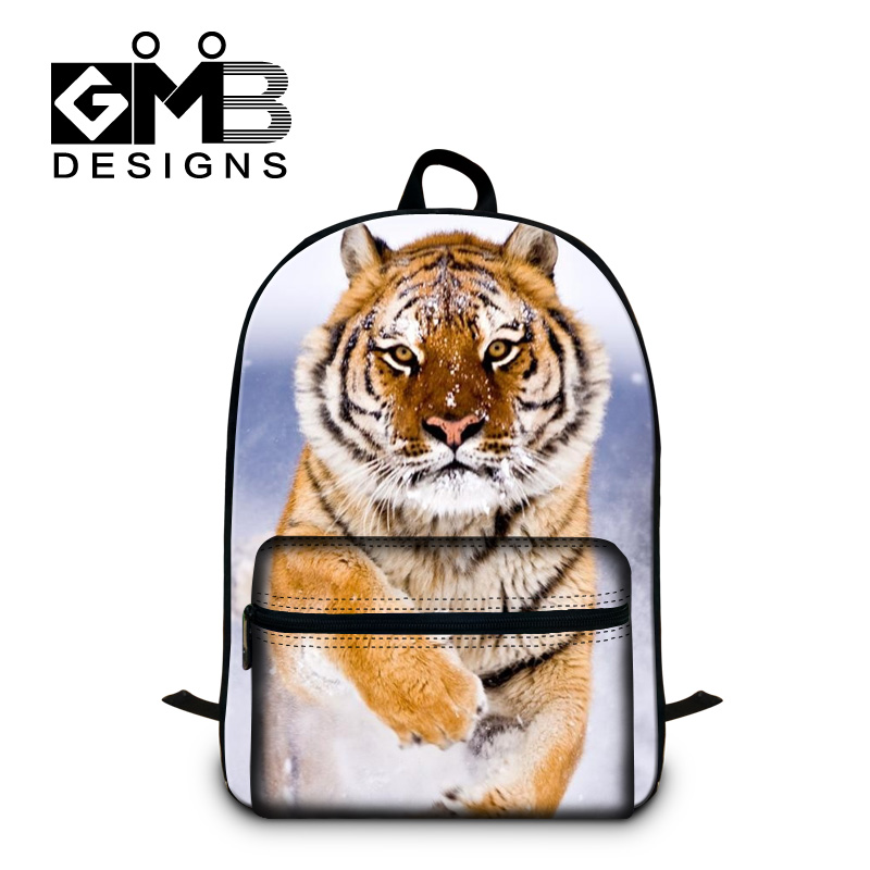 Tiger 3D print backpacks for boys young mens cool back pack for laptop,fashion school bags for high class students,Lion bookbag