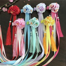 2019 2pcs/set  Fashion Multi style girls hair clips Chinese traditional princess tassels peony flower hairpins kids accessories