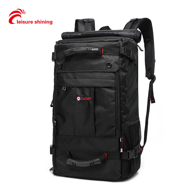 b8a440374f14 US $55.0 |50L Mountaineering Bag Houlder Bag Man Large Capacity Travel Bag  Backpack Professional Outdoor Multi function Three Use Bag-in Climbing Bags  ...