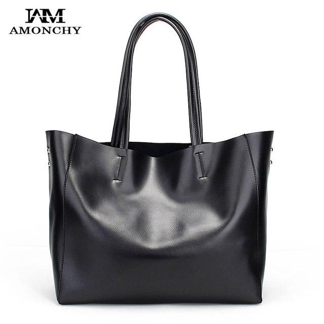 9df95f395faa 100% Genuine Leather Women s Shoulder Bags Brand Cowhide Ladies Messenger  Bags Office Bag Simple Designer Handbags Bolsos Sac 22