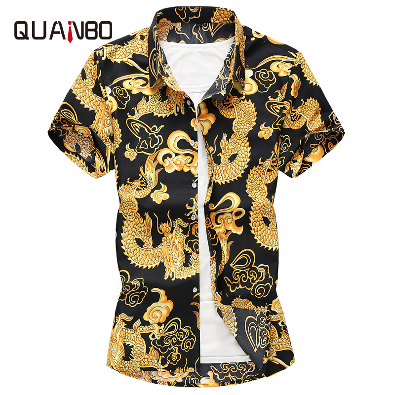 Plus Size 5XL 6XL 7XL 2019 New Summer Mens Short Sleeve Hawaiian Shirts Fashion Casual Floral Shirts China Style Brand Clothing