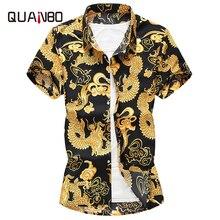 Plus Size 5XL 6XL 7XL 2019 New Summer Mens Short Sleeve Hawaiian Shirts Fashion