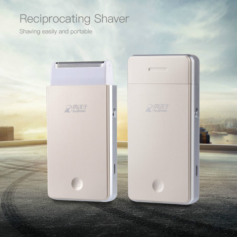 Reciprocating Single Blade Mini Electric Shaver Razor beard shaving machine for men face care Built-in charging plug  33 in 2017 the new primitive man shaving machine 4 d waterproof charging crime electric razor the three razor head man shaved the