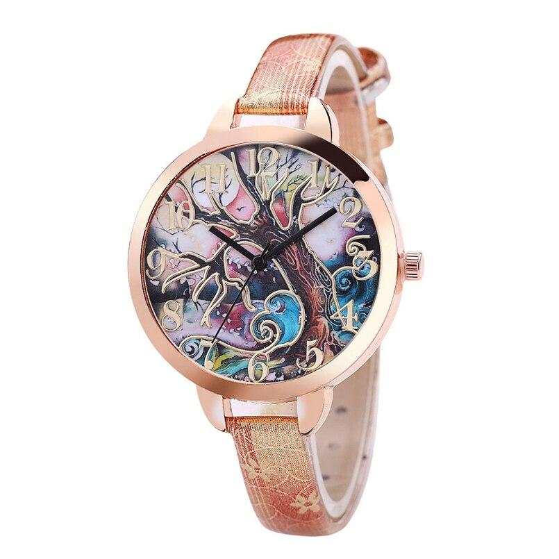 Excellent Quality Women Bracelet Watch Famous Brand Ladies Faux Leather Analog Quartz Wrist Watch Clock Women Relojes Mujer