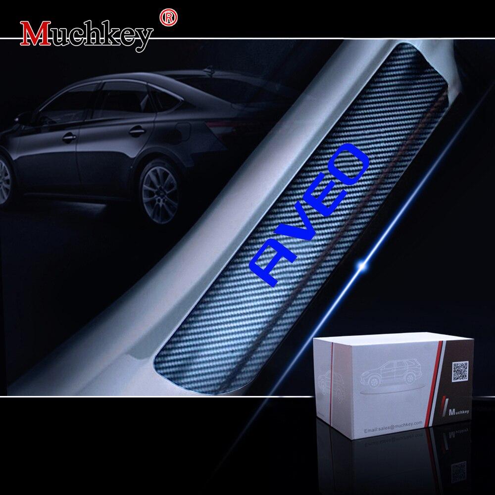 Auto Accessories Door Threshold 4 Pcs For Chevrolet AVEO Door Entry Guard Car Door Sills Door Sill Scuff Plate 4Pcs