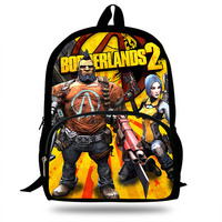 Borderlands 2 Jack Tiny Tina Zero Ninja print Children School Bags for Teenage Boy Girls Students Daily Backpack Mochila Escolar