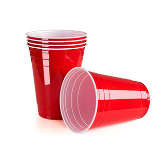 Image 4 - 50Pcs/Set 450ml Red Disposable Plastic Cup Party Cup Bar Restaurant Supplies Household Items for Home Supplies High Quality